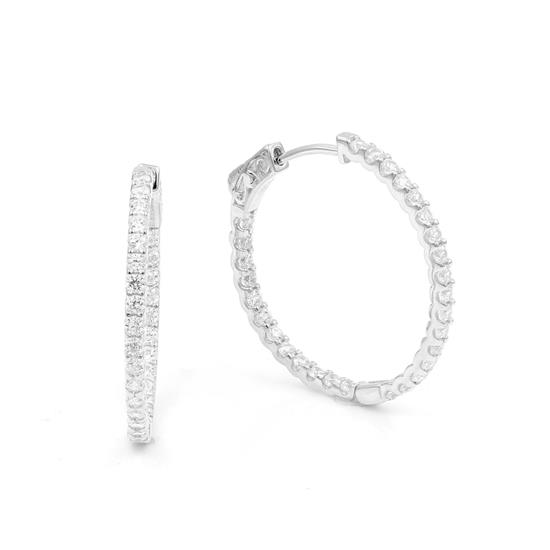 30mm Classic Tiny Hoop Earrings with Cubic-Zirconia