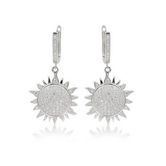 Elegant 925 Sterling Silver Star Earring for Ladies