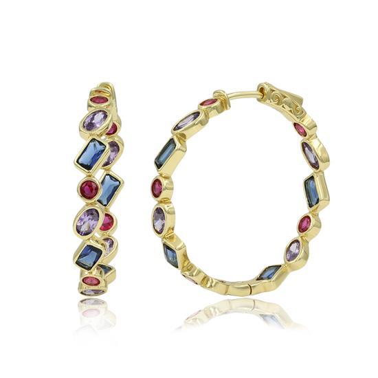 18k Gold Plated Cartilage Earring Studs Hoop Earrings for Women