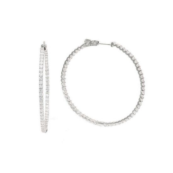 40mm Classic Tiny Hoop Earrings with Cubic-Zirconia