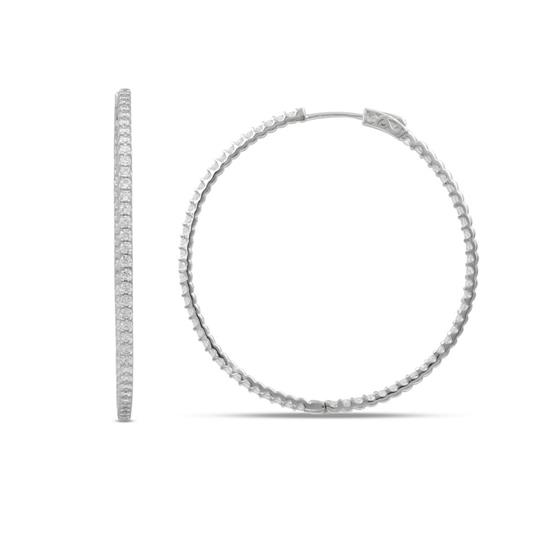 50MM Classic Tiny Hoop Earrings with Cubic-Zirconia