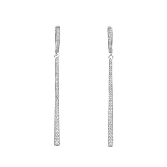 Bridal Style 925 Platinum Plated Sterling Silver Earring