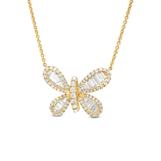 18K YELLOW GOLD BUTTERFLY NECKLACE