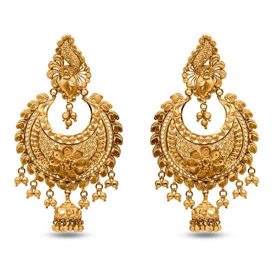 Glam Chandbali In 22K Gold