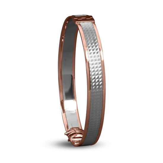 Chic Bracelet In 18K Rose Gold And Platinum