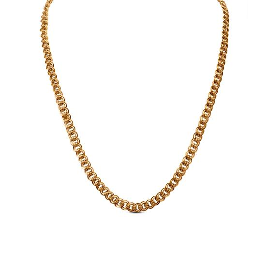 Link Mens Chain In 22K Gold