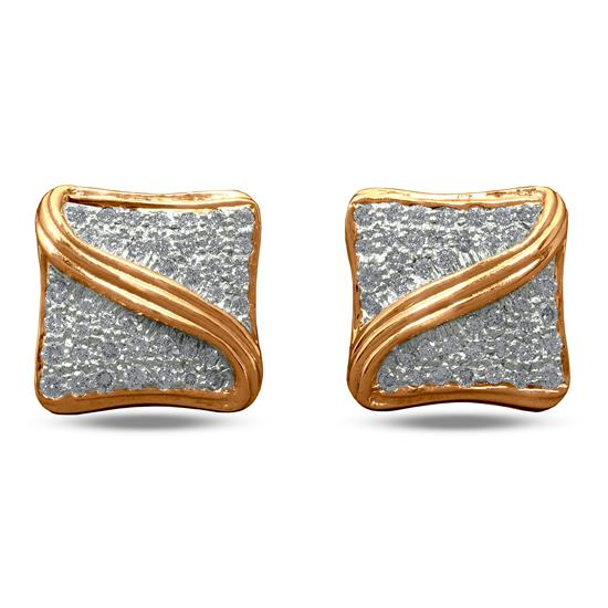 Cufflinks In 18K Yellow Gold With Diamond