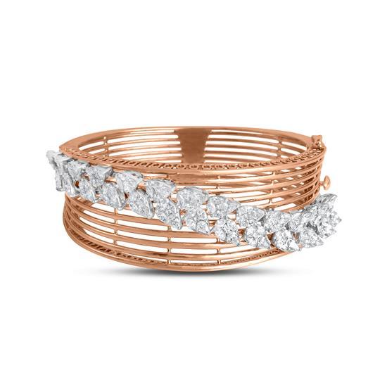 Sparkle Diamond Bracelet In 18K Rose Gold