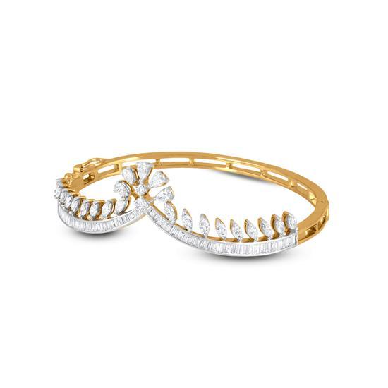 Classic Diamond Bracelet In 18K Yellow Gold