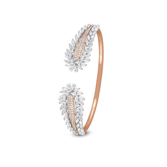 Cuff Diamond Bracelet In 18K Rose Gold