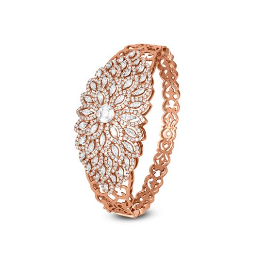 Starry Diamond Bracelet In 18K Rose Gold