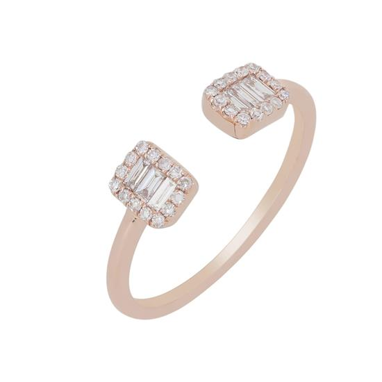 Ring With Diamond In 14K Rose Gold
