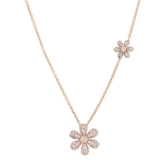 Necklace With Diamond In 14K Rose Gold
