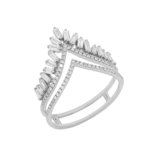 Ring With Diamond In 14K White Gold