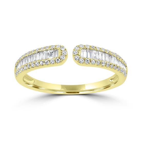 Ring With Diamond In 14K Yellow Gold