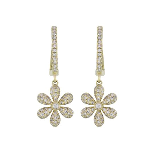 Earring With Diamond In 14K Yellow Gold