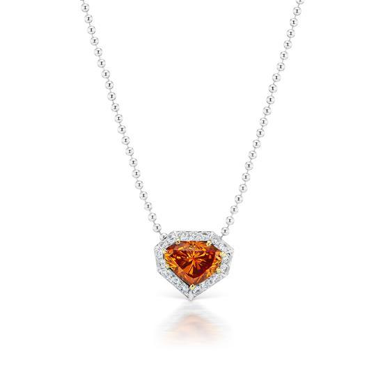 Orange Diamond Pendant