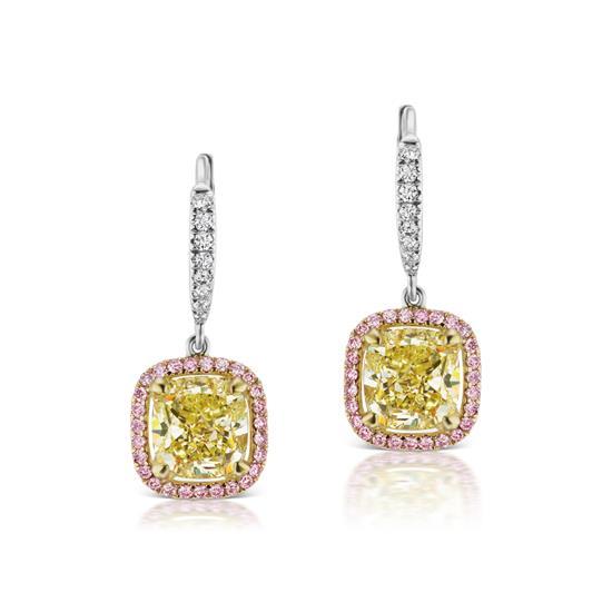 Yellow Diamond Earring