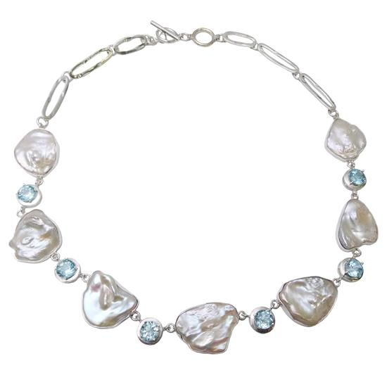 Topaz Pearl Necklace