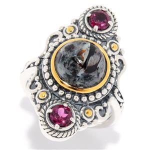 JOYA by Judy Crowell Sterling Silver Astrophyllite & Gemstone Ring
