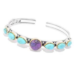 JOYA by Judy Crowell Choice of Length Kingman Mohave Turquoise Cuff Bracelet
