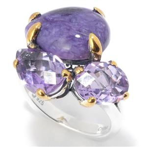 JOYA by Judy Crowell Multi Shape Gemstone 3-Stone Ring
