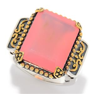 JOYA Gold Label by Judy Crowell Sterling Silver 16 x 12mm Chalcedony Ring