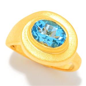 JOYA Gold Label by Judy Crowell Oval Cut Gemstone Ring
