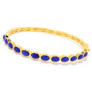 JOYA Gold Label by Judy Crowell Choice of Size Oval Gemstone Bangle Bracelet