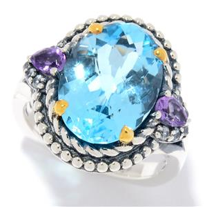 JOYA by Judy Crowell Multi Gemstone Double Halo Ring